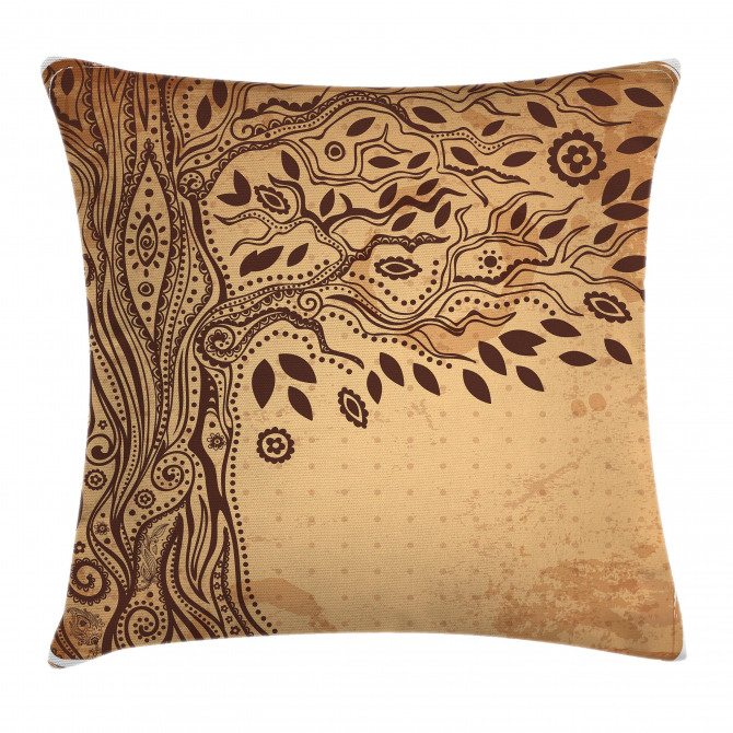 Tree of Life Tribal Pillow Cover