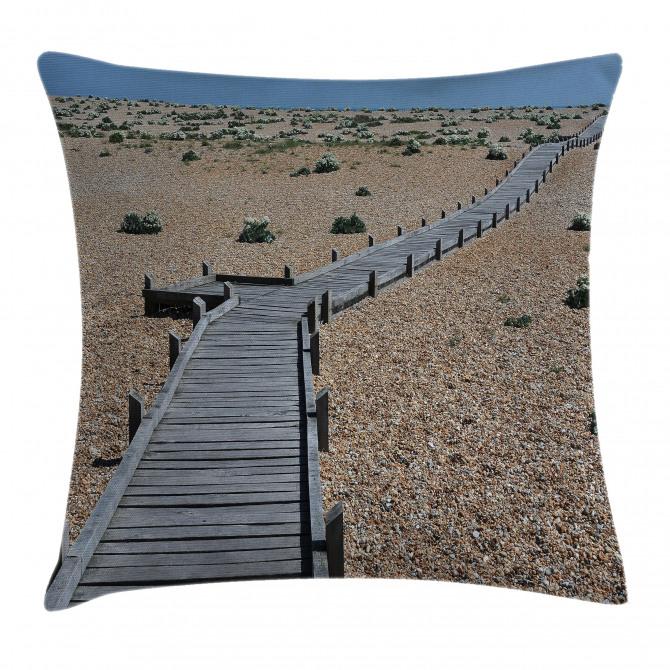 Coastline Pebbles Peace Pillow Cover