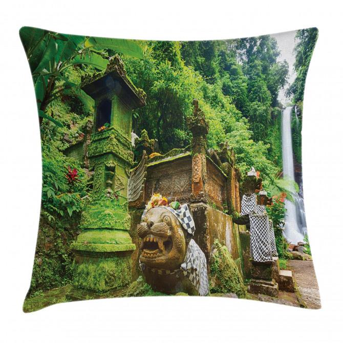 Waterfall Rainforest Pillow Cover