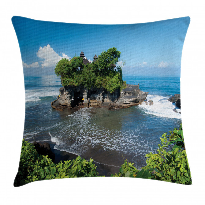Temple in Bali Island Pillow Cover