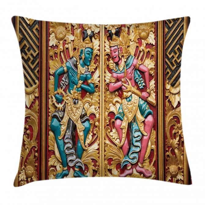 Temple Door Indonesia Pillow Cover