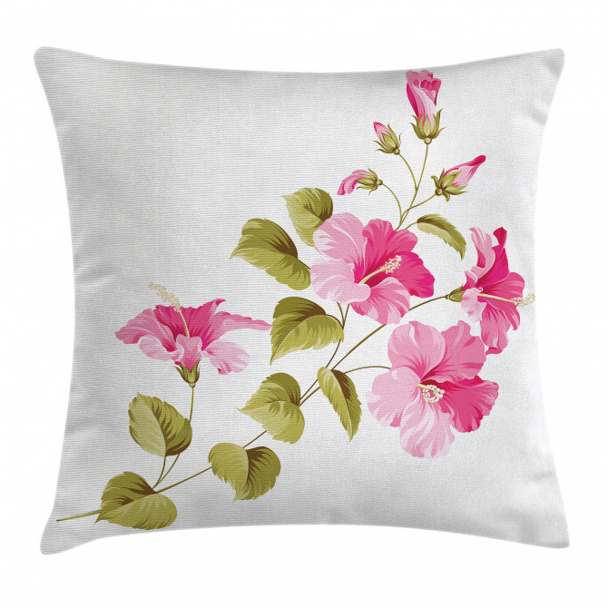 Wild Exotic Branches Pillow Cover