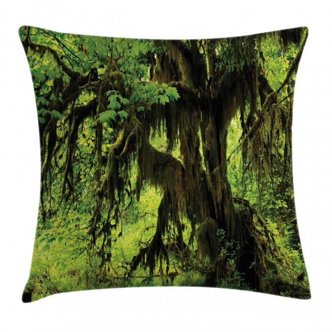 Moss Jungle Wildlife Pillow Cover