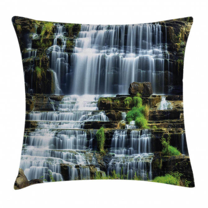 Waterfall Jungle Rural Pillow Cover