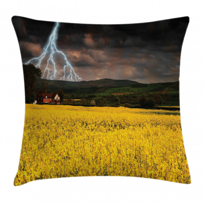 Thunderstorm over Meadow Pillow Cover