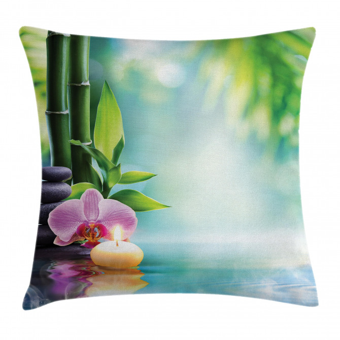 Candle Bamboo Tranquility Pillow Cover
