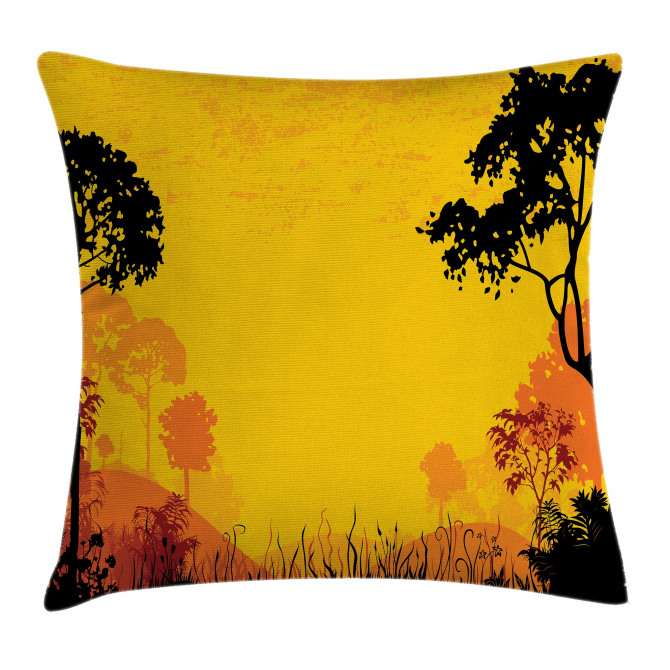 Woodland at Sunset Pillow Cover