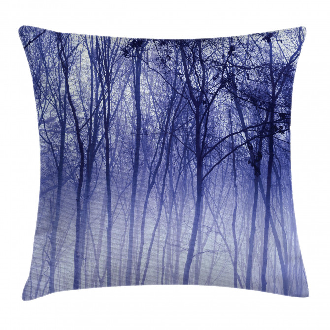 Winter Woodland Foggy Pillow Cover