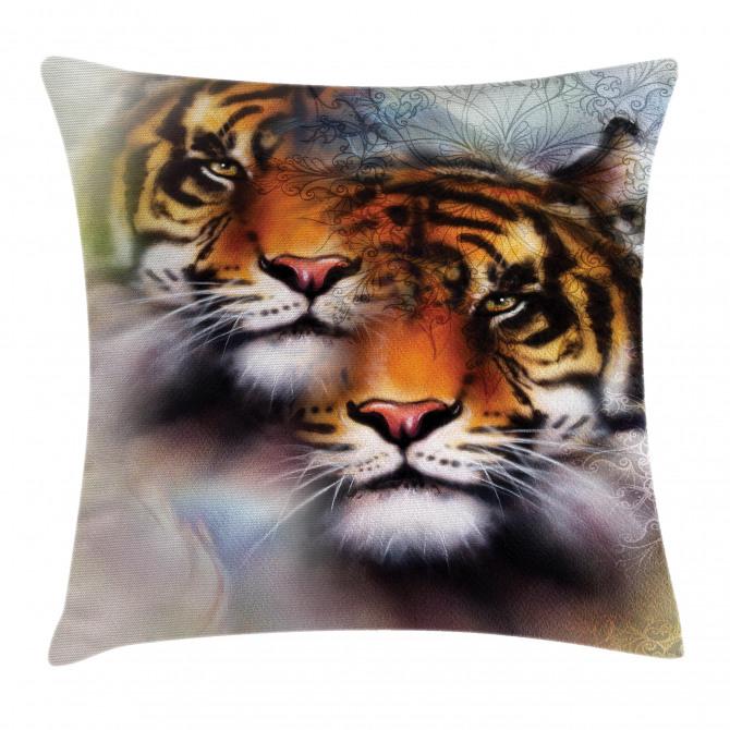 Wildlife Safari Animals Pillow Cover