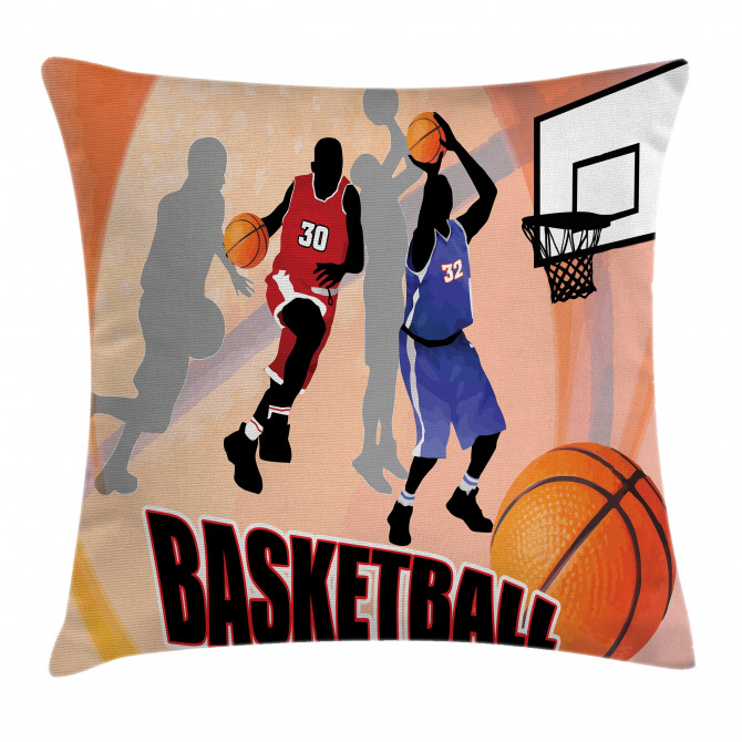 Vintage Basketball Art Pillow Cover