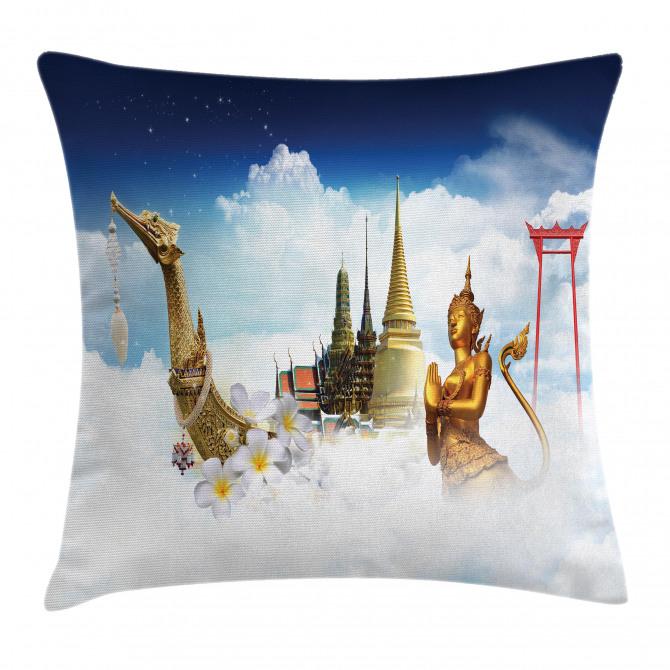 Thailand Famous Statues Pillow Cover