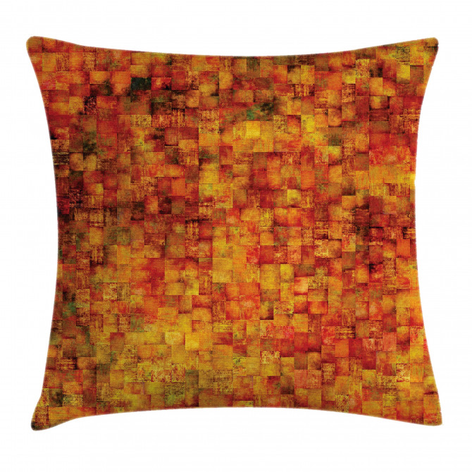 Vintage Mosaic Grunge Pillow Cover