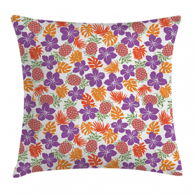 Tropical Hawaii Hibiscus Pillow Cover
