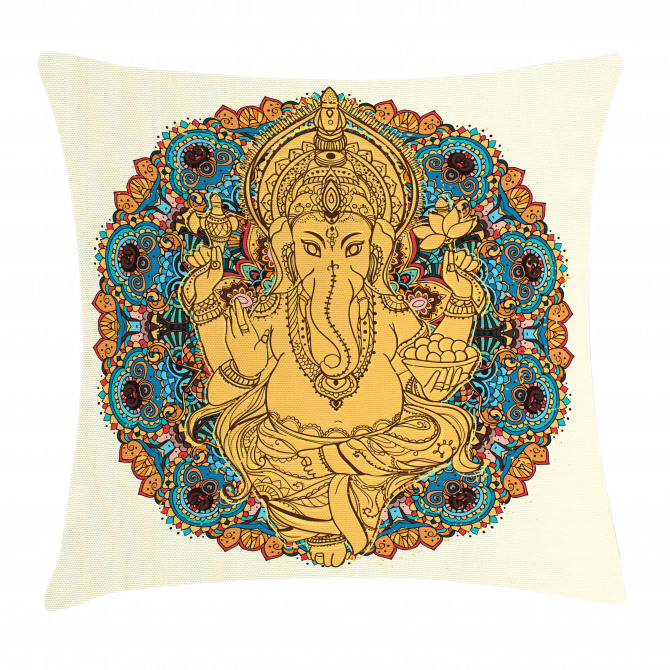 Vintage Style Elephant Pillow Cover