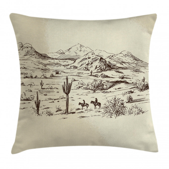 Wild West Cowboys Pillow Cover