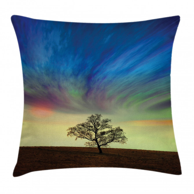 Surreal Sky Field Ombre Pillow Cover