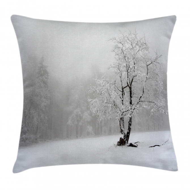 Winter Snowy Forest Cold Pillow Cover