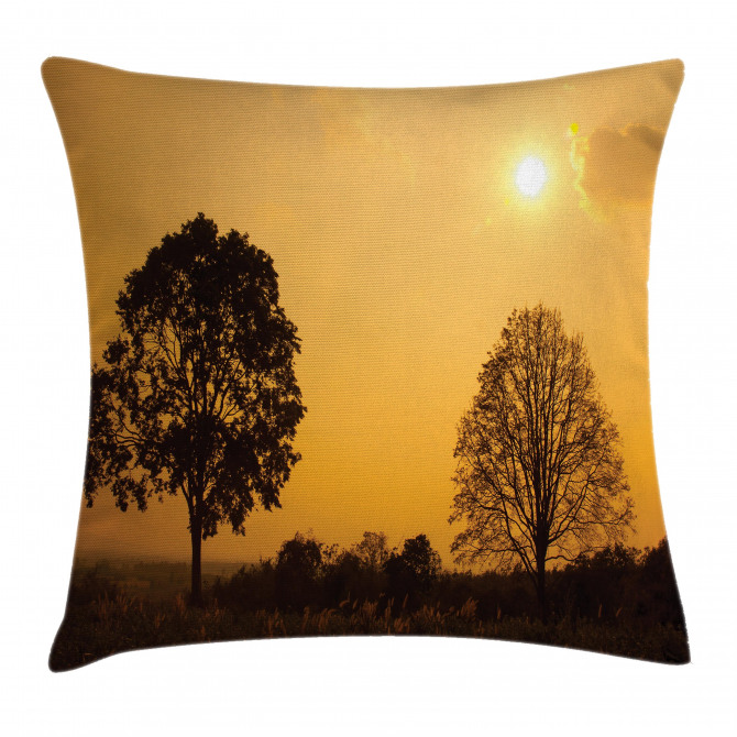 Tree on Sunset Twilight Pillow Cover