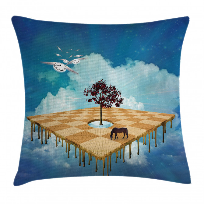 Surreal Landscape Pillow Cover