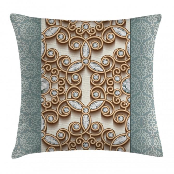 Vintage Diamonds Retro Pillow Cover
