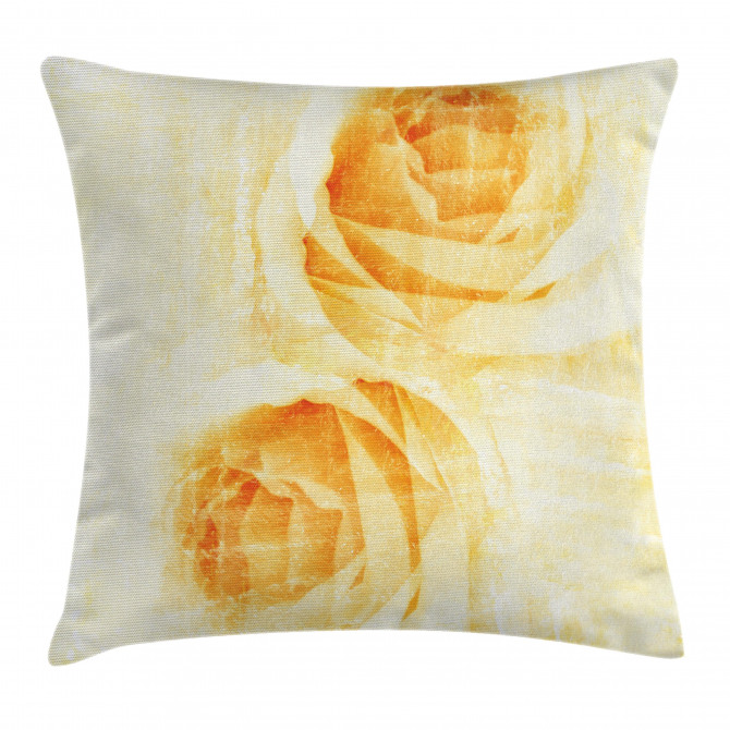 Watercolor Rose Flower Pillow Cover