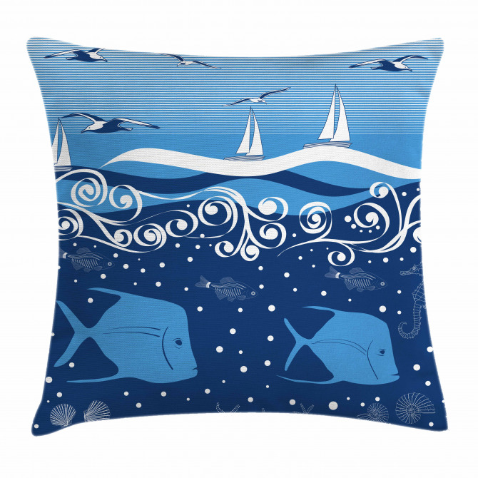 Underwater Life Sail Pillow Cover
