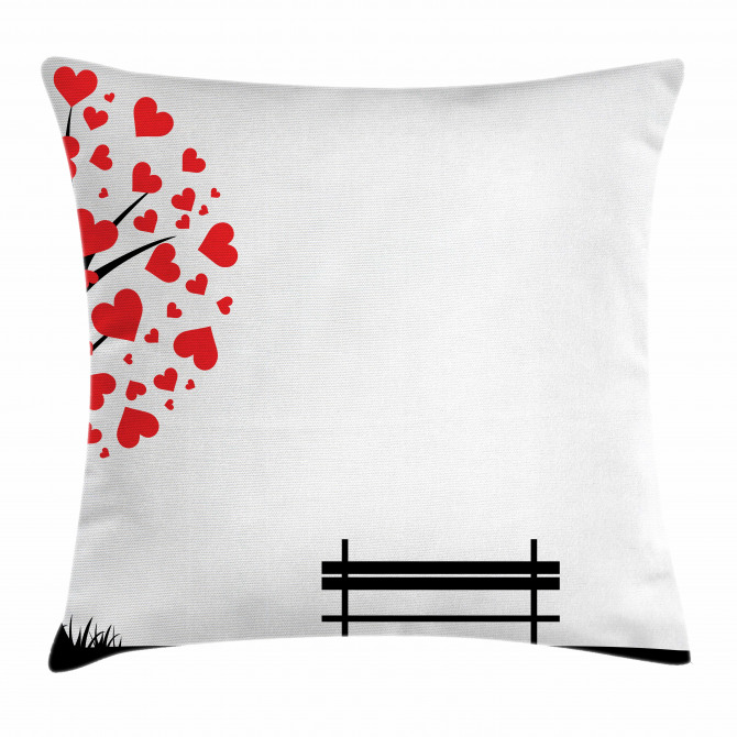 Tree Heart Leaves Pillow Cover