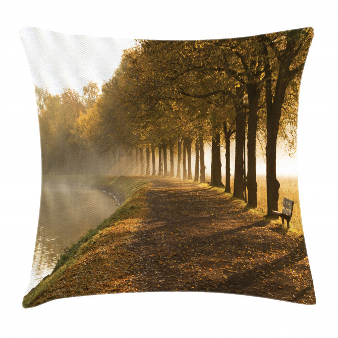 Walkway at Canal Misty Pillow Cover