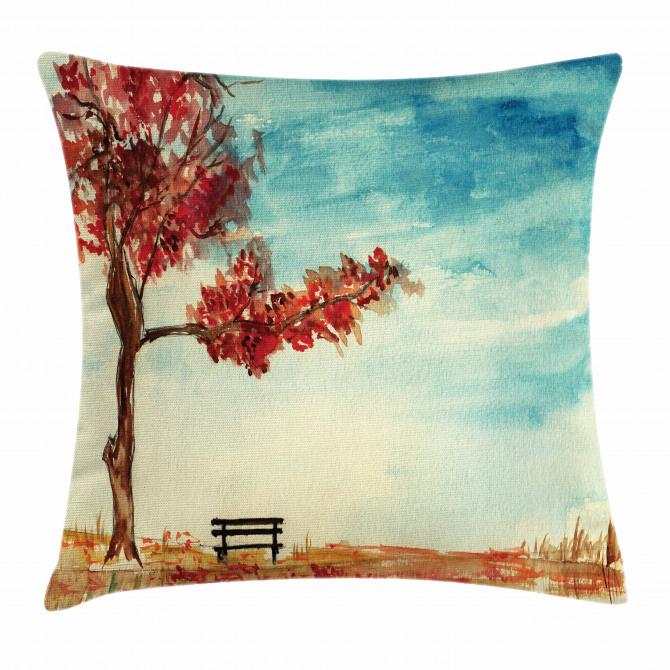 Watercolor Artwork Bench Pillow Cover
