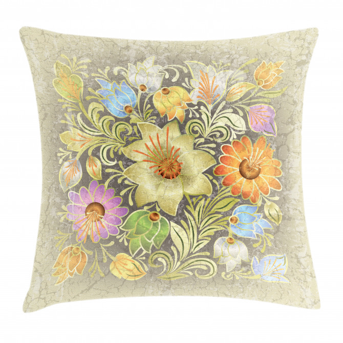 Vintage Bouquet Bridal Pillow Cover