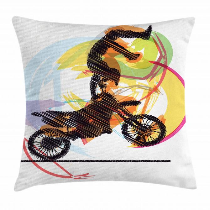 Performing Biker Pillow Cover
