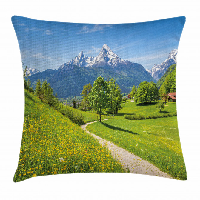 Wild Flowers in Alps Pillow Cover