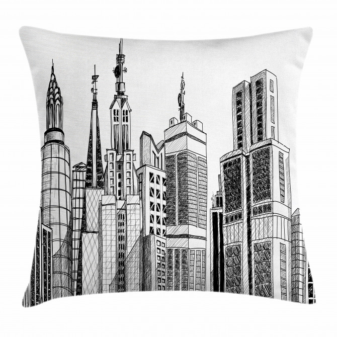 Urban Architecture Art Pillow Cover
