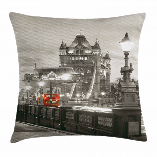 Urban Life Scenery Pillow Cover
