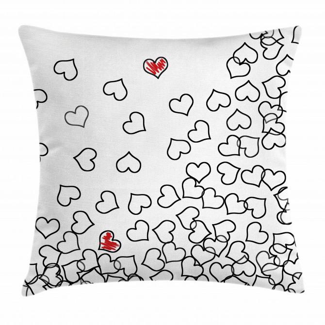 Wedding Heart Shape Pillow Cover