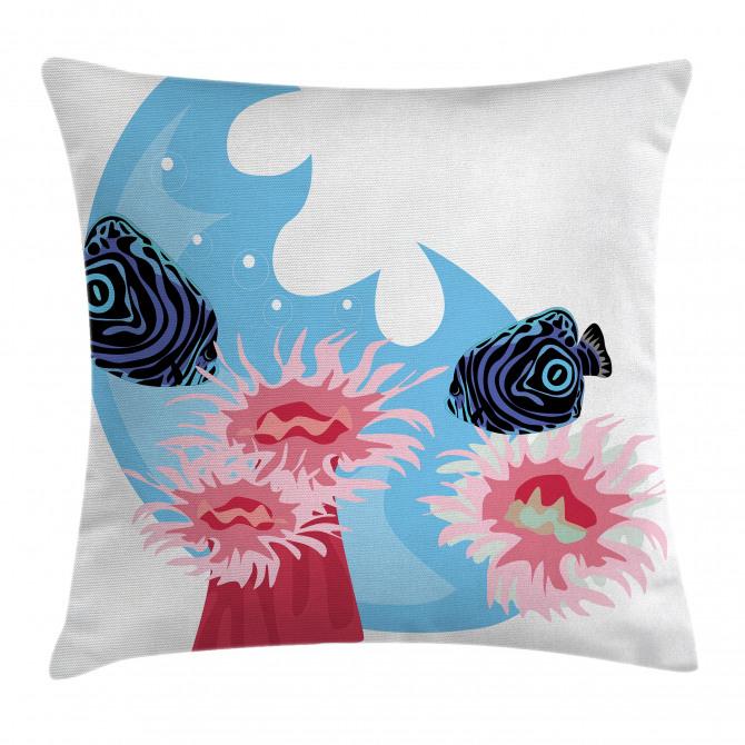 Fish Cartoon Pillow Cover