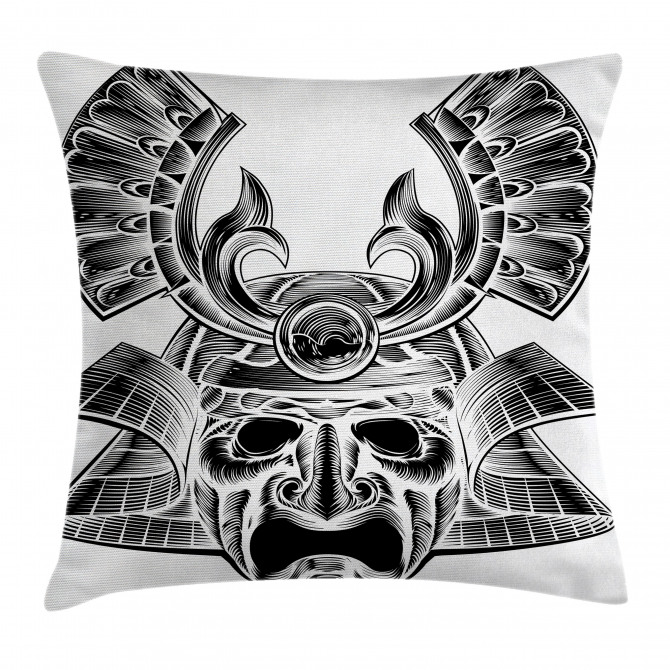 Vintage Japan Mask Pillow Cover