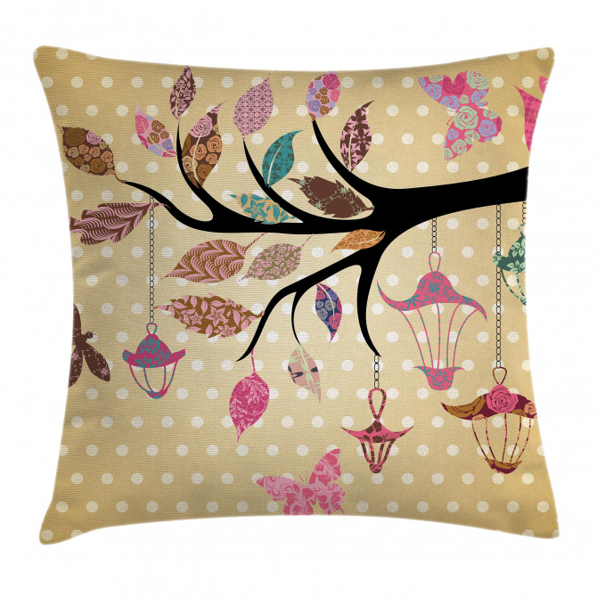 Vintage Boho Cute Tree Pillow Cover