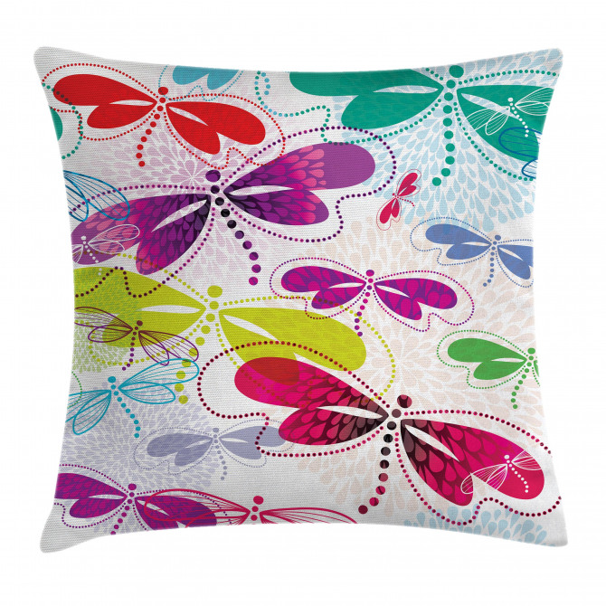 Hydrangea Dragonflies Pillow Cover