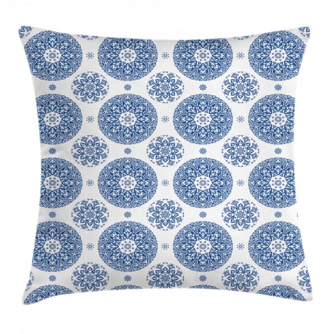 Vintage French Blue Pillow Cover