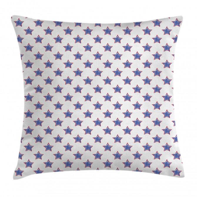 USA Flag Star Nation Pillow Cover