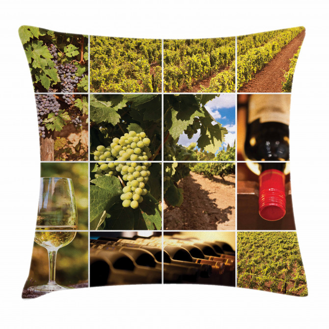 Vineyard Grapes Landscapes Pillow Cover