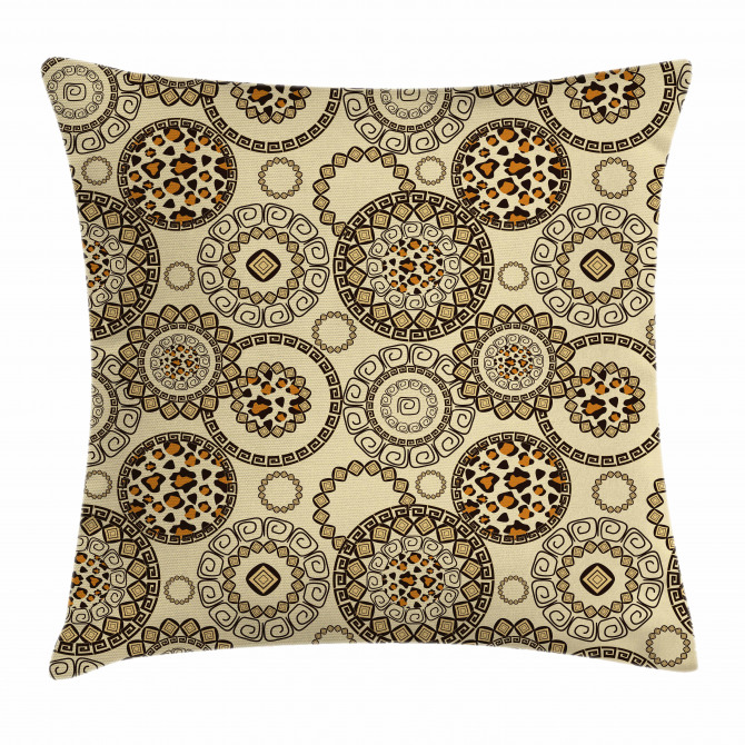 Tribal Circular Pillow Cover