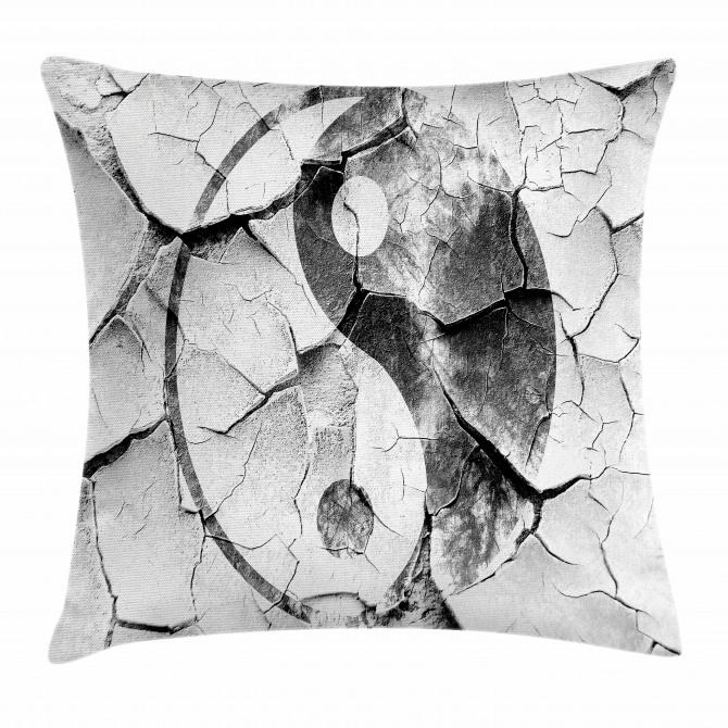 Ying Yang Grunge Display Pillow Cover
