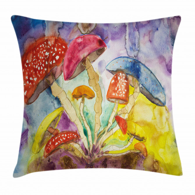 Watercolor Forest Pillow Cover
