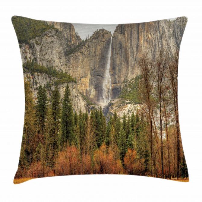Yosemite Falls Trees Pillow Cover