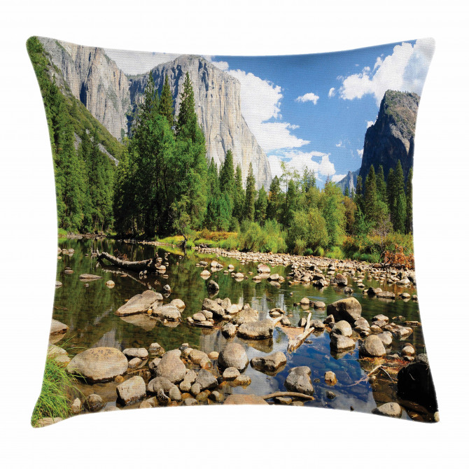 Yosemite Forest River Pillow Cover