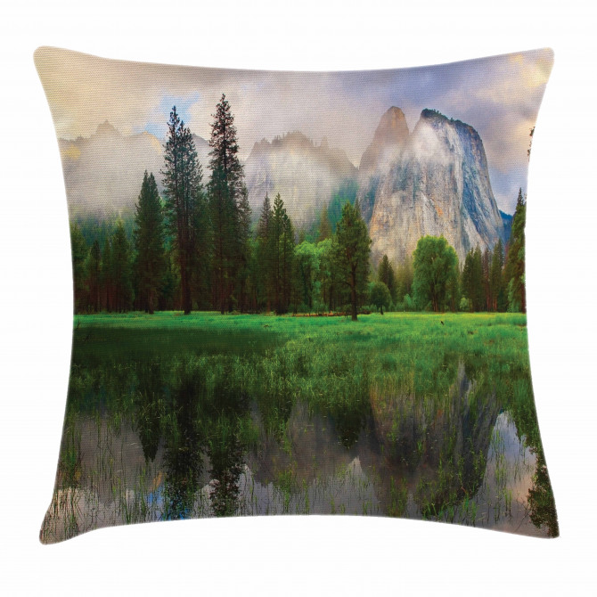 Yosemite Cathedral Tree Pillow Cover
