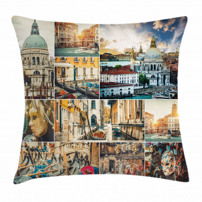 Venice Cityscape Canal Pillow Cover