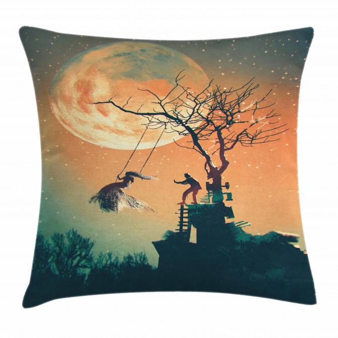 Zombie Bride Groom Pillow Cover